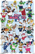 MLB BASEBALL MASCOTS Official Kids Cartoon Wall POSTER (25 Characters)