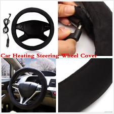 Universal Warmer Winter Heating Electric Steering Wheel Covers +Car Lighter Plug