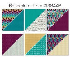 Stampin Up BOHEMIAN DSP 12x12 paper NEW blackberry bliss bermuda bay indigo