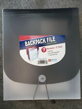 Backpack File 7 Pockets / 6 Tabs accordion file - Stands on its own!