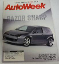 Autoweek Magazine Razor Sharp Ford Focus November 2000 080714R