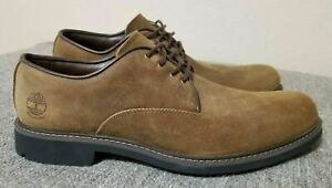 {A2A2F} Timberland Men's Stormbucks Waterproof Olive Suede Oxford Shoes *NEW*