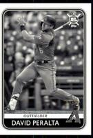 2020 Big League Base Black & White #136 David Peralta /50 - Arizona Diamondbacks