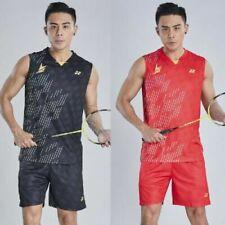 2019 New Men's tennis/badminton Clothes Sleeveless T shirts+shorts