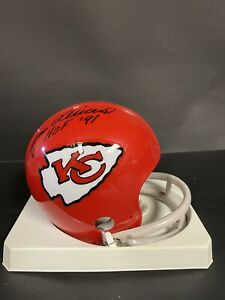 Jan Stenerud & Bobby Bell Autographed Kansas City Chiefs Mini Helmet