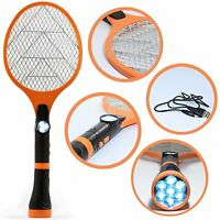 Handheld Electric Fly Mosquito Swatter Racket Insect Zapper Bug Pest Wasp Killer