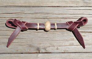 Jose Ortiz Latigo Leather Rawhide Knot Tie End Curb Strap