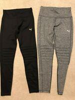New Women's Puma Moto Tight Leggings Yoga Pants Black Gray S M L XL
