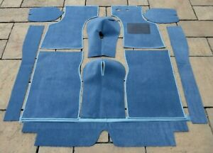 MORRIS MINOR 1000 WEDGEWOOD BLUE CARPET SET+ UNDERFELT SET @ £155.00 (LAST ONE)