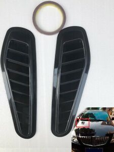 2x Auto Car Decorative Air Flow Intake Scoop Turbo Bonnet Vent Cover Hood Fender