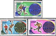 Dahomey 414-416 (edición completa) usado 1970 Fútbol-WM ´70, Mexico