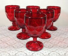 Viking Georgian Ruby Red Water Goblets Set of 6