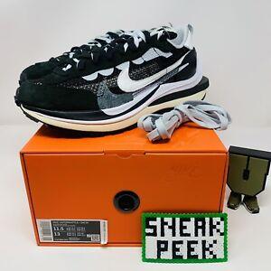 Nike Sacai Vaporwaffle Black CV1363 001 SIZE 11.5 100% AUTHENTIC