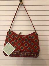 Vera Bradley Molly Villa Red Small Hobo Bag NWT Retail $42