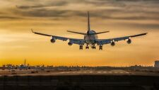Boeing 747 Landscape Canvas Print Wall Art - Size Options Available
