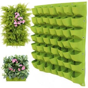 2~72 Pocket Planting Bag Wall Hanging Vertical Flower Grow Pouch Planter Garden