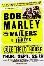 """Bob Marley Cole Field 16"""" x 12"""" Photo Repro Concert Poster"""