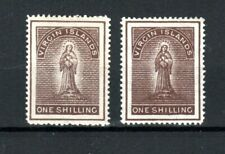 More details for british virgin islands 1887-89 1s x 2 shades mh