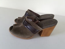 Timberland Ear Mule Wooden Heel Shoes Suede Us Size 10 Womens