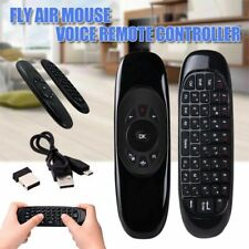 MediaVISION-Wireless Air Mouse Keyboard Remote Control w/ Mic-TV Smart Box PC
