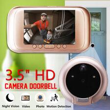 "3.5"" 720P Digital Door Bell Camera Video Peephole Viewer Zoom Video Recorder US"