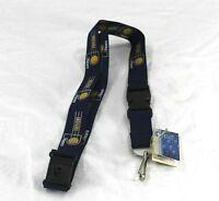NBA Indiana Pacer Blue Lanyard Key Chain W/ Detachable Buckle