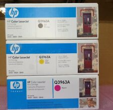 Lots of 3 New Genuine HP Color LaserJet Q3960A Q3962A ,Q3963 2550-2820-2840