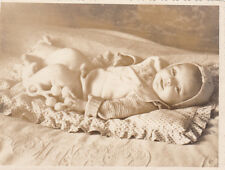 1955 Little baby with beanbag old Russian Soviet photo from old private album