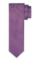 NWT Stefano Ricci Tie Red Blue Geometric Print 100% Silk Made in Italy $250
