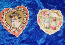 Antique Valentines - 2 Heart shaped Whitney Made cards