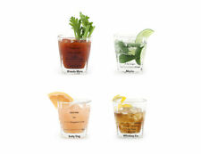 KIKKERLAND Cocktail Glas Set NEU/OVP 4x Drink Gläser +Rezepte Bar Trinkgläser