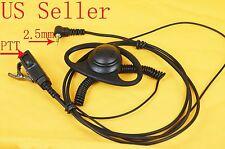 D-Shape PTT Earpiece For Cobra 2 Way MicroTalk Radio CXT235 CXT135