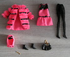 Beautiful Silkstone Fuchsia 'N Fur outfit for Francie Fashion Model  Barbie