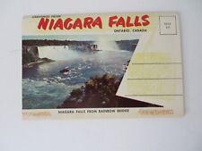 Vtg Colorful Postcard Accordion Folder Niagara Falls Ontario Canada #8439