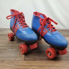Braun Bilt Roller Derby Skates Retro Blue Red Urethane Wheels Vintage