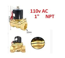"1"" Inch Electric Solenoid Valve  110V-Water-Air Gas,Air Suspension NC A180"