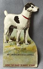 1890 Fox Terrier Dog Champion McLaughlins Coffee Victorian Advertisng Trade Card