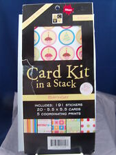 NEW DCWV CARD KIT IN A STACK BIRTHDAY 5.5 X 5.5 CARDS CM-022-00001  1885