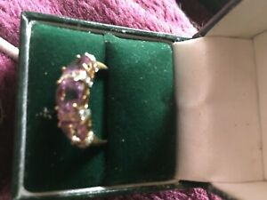 9ct gold Amythest ring size P