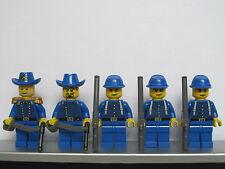Lego WESTERN AMERICAN CIVIL WAR Blue Union Soldiers Minifigs Cavalry