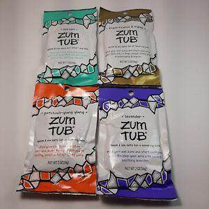(Lot of 4) 2 oz. Zum Tub Epsom & Sea Salts - See Description for Scents