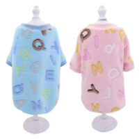 Flannel Soft Cozy Pet Dog Pajamas Warm Dog Clothes for Small Medium Large Dogs