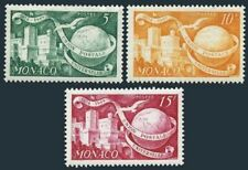 Monaco 245-246, 245A, Mh Upu-75,1949. Palace, Globe, Pigeon.