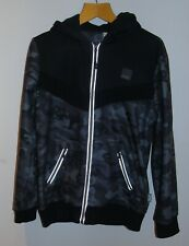 Men's Everlast Grey & Black Camouflage Zip Through Hoodie Size M