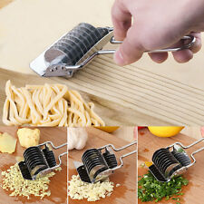 Stainless Steel Handheld Noodle Pasta Spaghetti Maker Dough Cutter Rotary Press