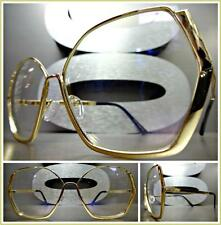 CLASSIC VINTAGE RETRO Style Clear Lens EYE GLASSES Gold Hexagon Fashion Frame