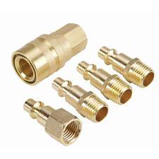 5 Piece Brass Air Quick Connect Coupler Set