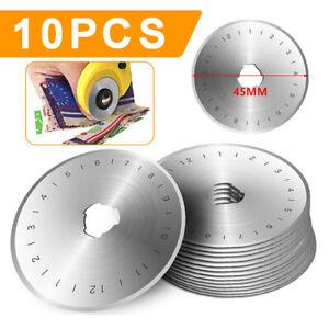 10 Stück 45mm Ersatzklingen Rollschneider Rotary Patchwork für Olfa, Prym, Kai
