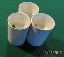 "REGULATION SIZE GOLF CUPS - SET OF 3 - PLASTIC - 6"" Depth"