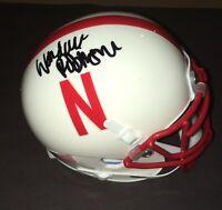 WITH PROOF! WANDALE ROBINSON Signed Autographed NEBRASKA CORNHUSKERS Mini Helmet